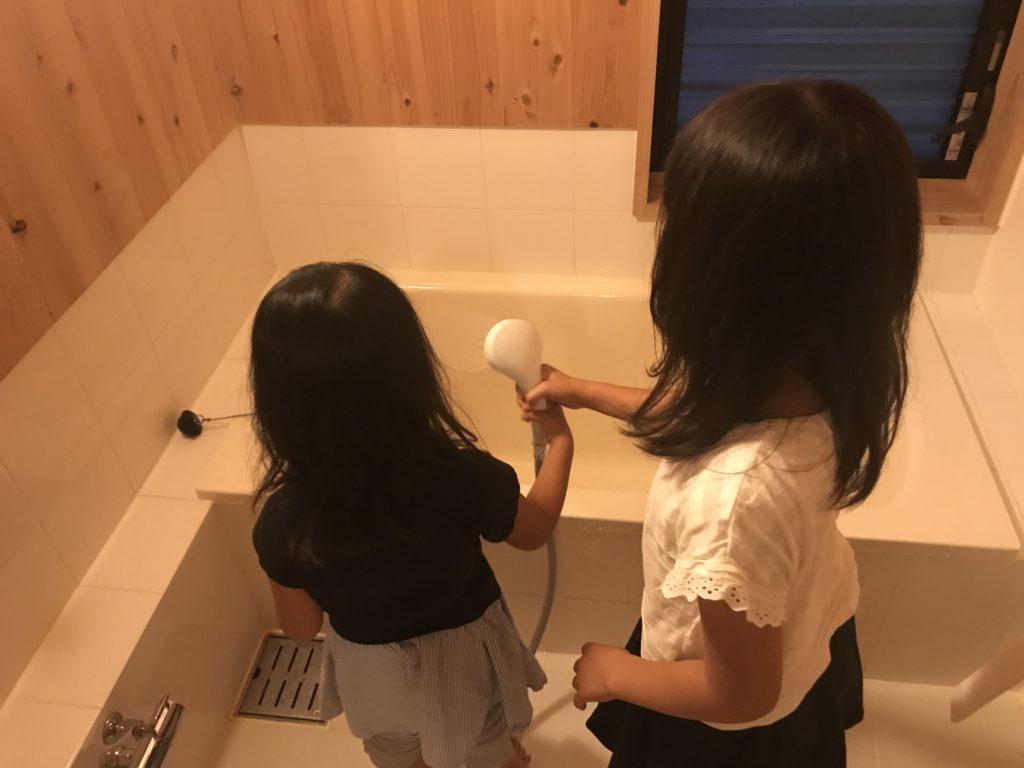 子供の風呂掃除手伝い1