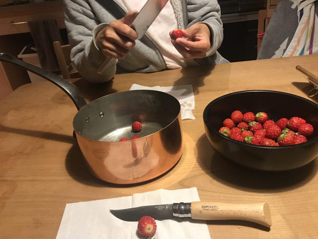 イチゴジャムを自作