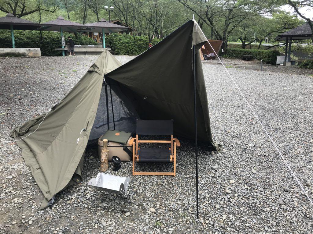 BUNDOK ソロティピーTCでソロキャンプ